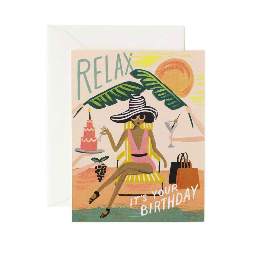 Luxe & Bloom - Rifle Paper Co. Relax Birthday Card