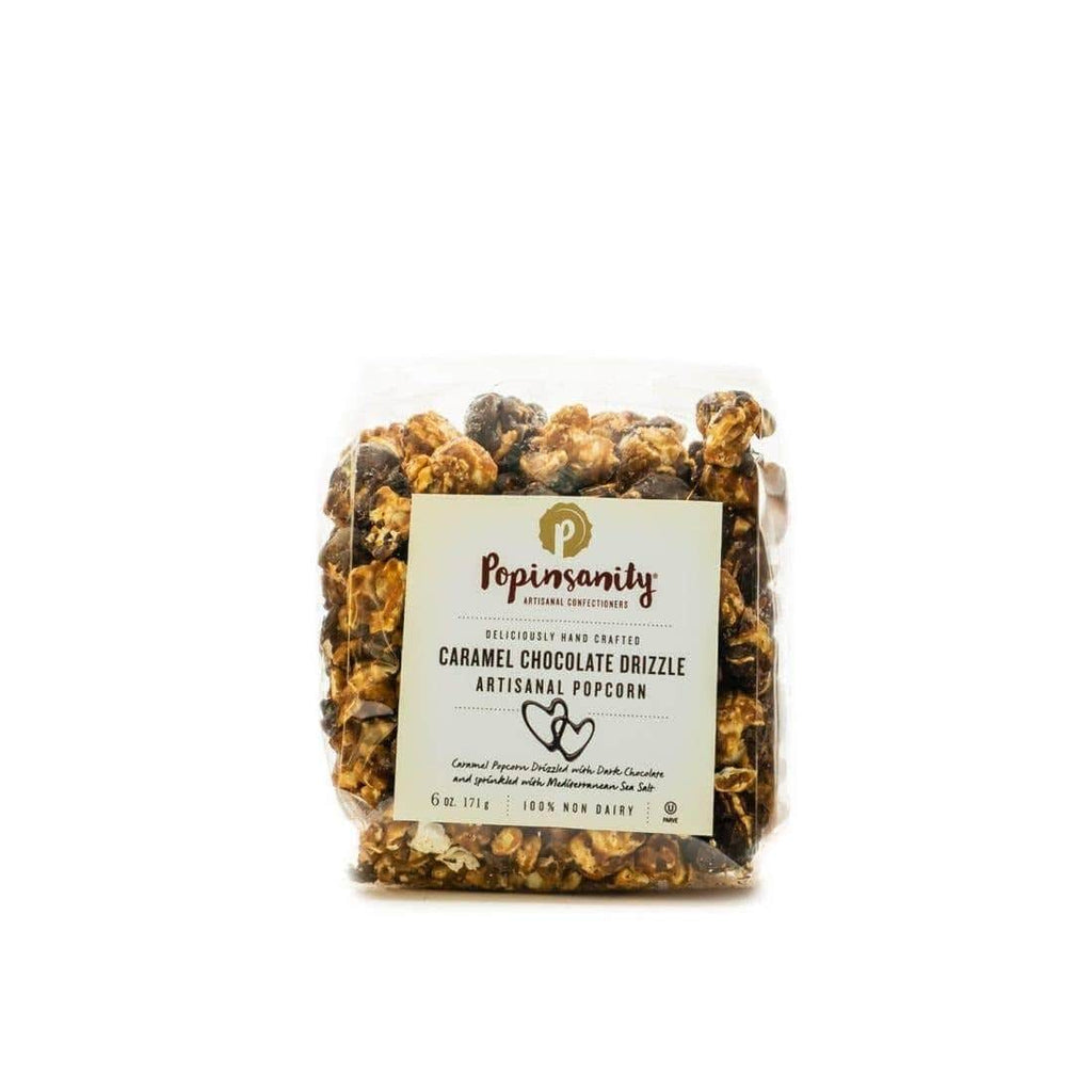 Luxe & Bloom - Popinsanity Caramel Chocolate Drizzle Gourmet Popcorn
