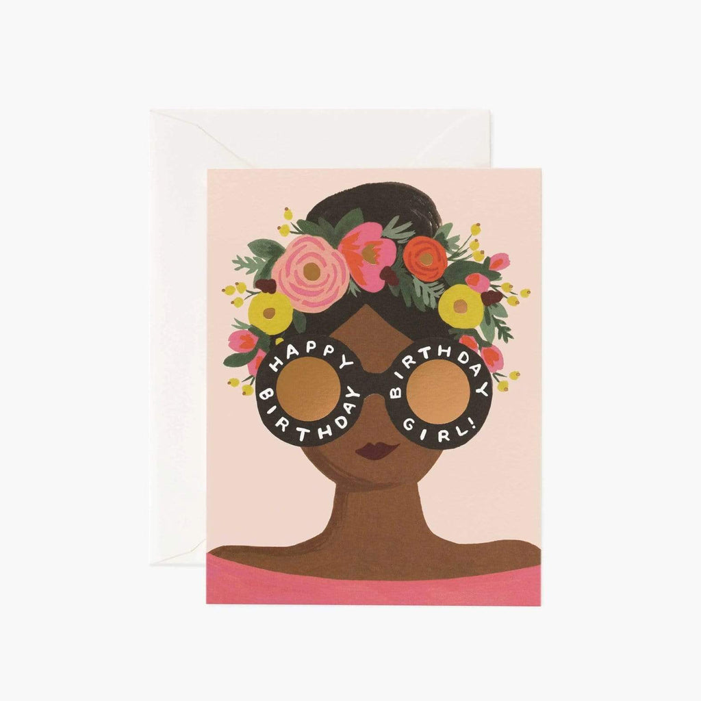 Luxe & Bloom - Rifle Paper Co. Flower Crown Birthday Girl Card