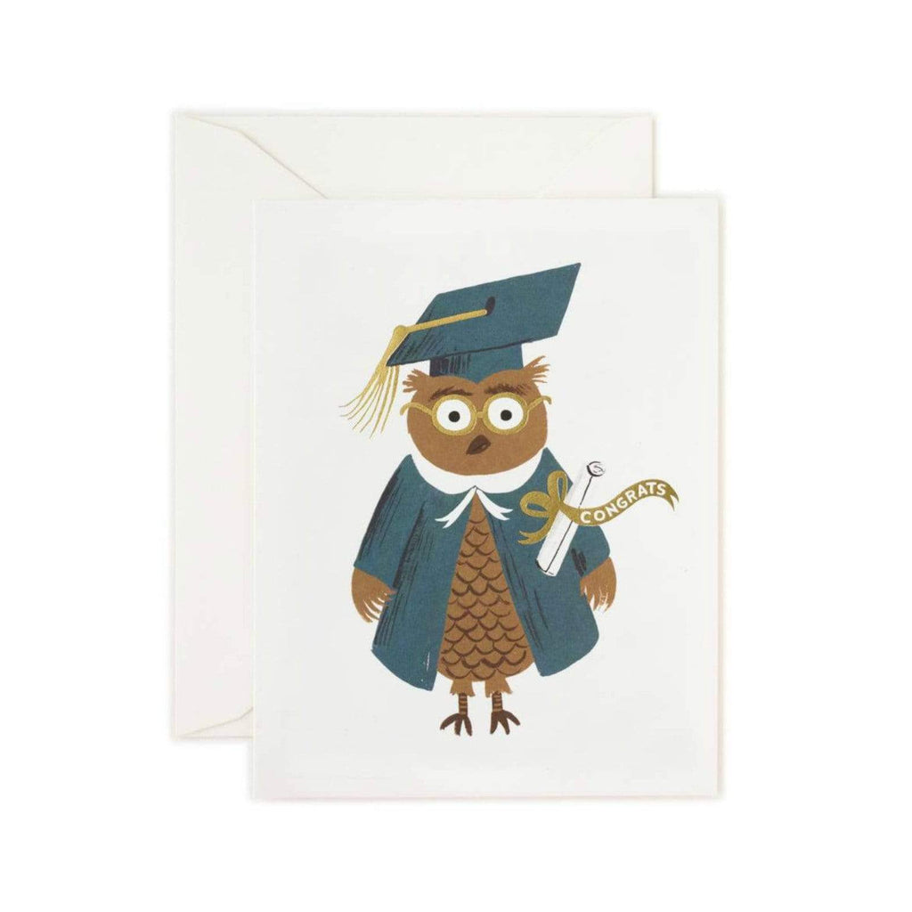 Rifle Paper Co. - Owl Congrats Card