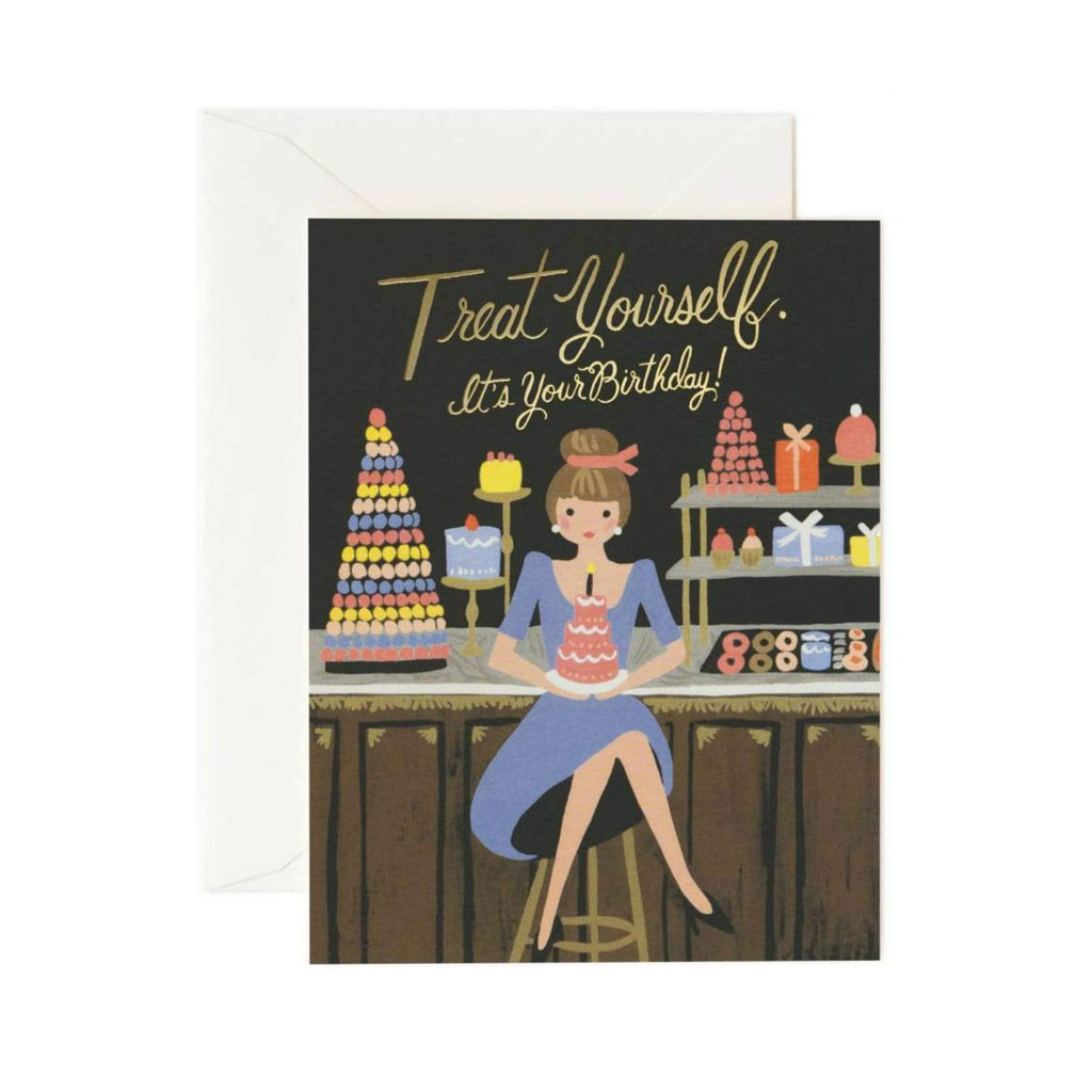Luxe & Bloom - Rifle Paper Co. Treat Yourself Birthday Card