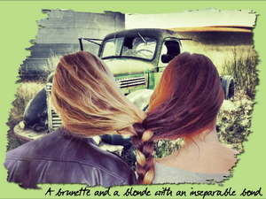 A brunette and a blonde with an inseparable bond ↓