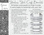 "1/2"" Design Your Own Custom Handwriting Bracelet"