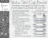 "1/4"" Design Your Own Custom Handwriting Bracelet"