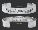 I Will Take Care of Her Always Bracelet | Mother of the Bride