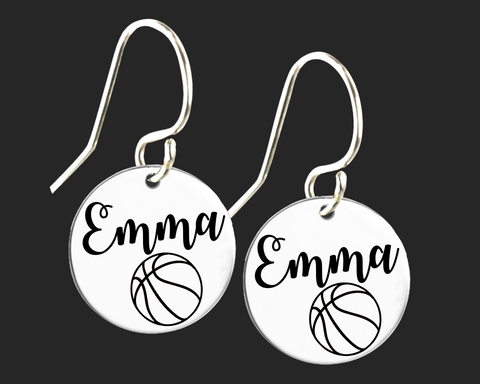 Personalized Basketball Earrings | Korena Loves