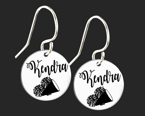 Personalized Cheer Earrings | Korena Loves