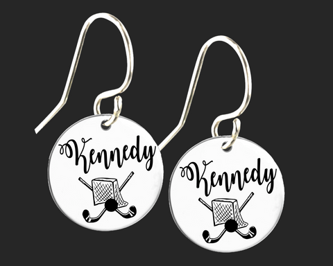 Personalized Field Hockey Earrings | Korena Loves