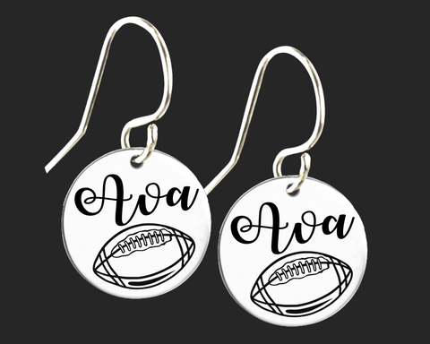 Personalized Football Earrings | Korena Loves