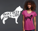 Siberian Husky Dog Hair T-shirt