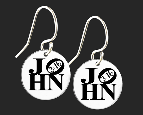 John 3:16 Earrings | Korena Loves