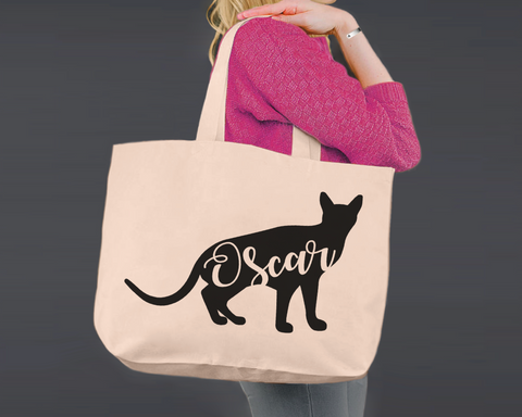 Abyssinian Cat | Personalized Canvas Tote Bag