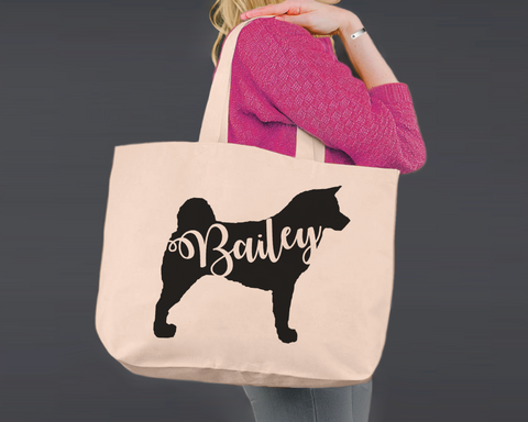 Akita Dog | Personalized Canvas Tote Bag