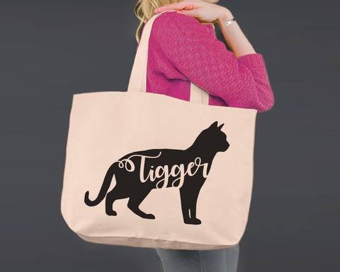 Bengal Cat | Personalized Canvas Tote Bag