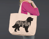 Bernese Mountain Dog | Personalized Canvas Tote Bag