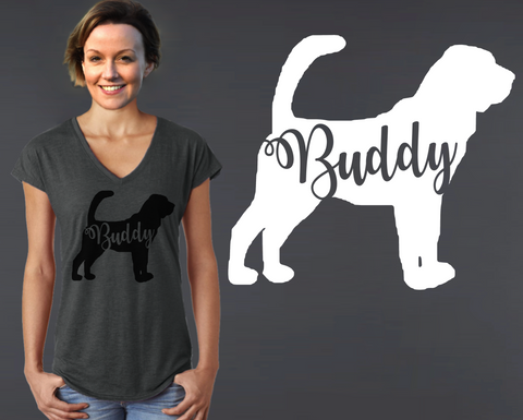 Bloodhound Dog Personalized T-shirt