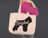 Bouvier des Flandres Dog | Personalized Canvas Tote Bag
