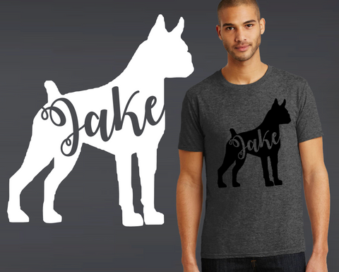 Boxer Dog Personalized T-shirt