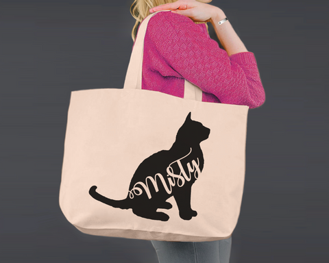 Burmese Cat | Personalized Canvas Tote Bag