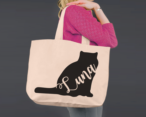 Exotic Shorthair Cat | Personalized Canvas Tote Bag