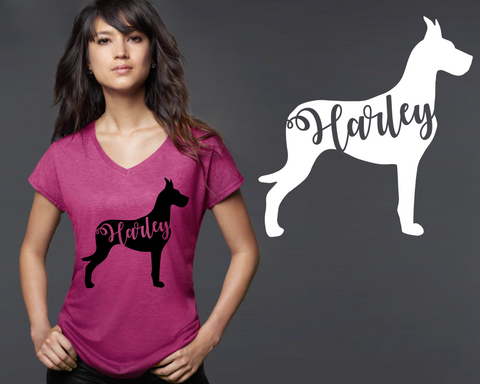 Great Dane Dog Personalized T-shirt