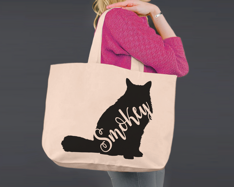 Himalayan Cat | Personalized Canvas Tote Bag