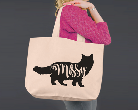 Ragdoll Cat | Personalized Canvas Tote Bag