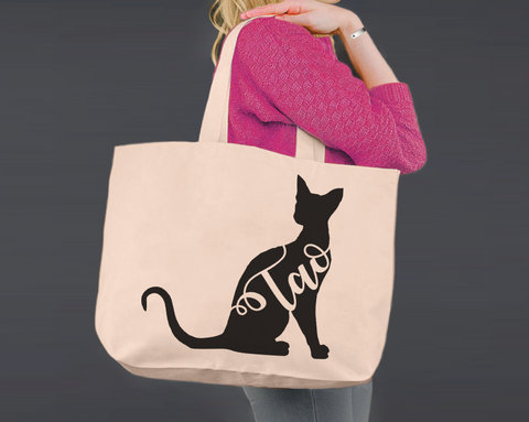 Siamese Cat | Personalized Canvas Tote Bag