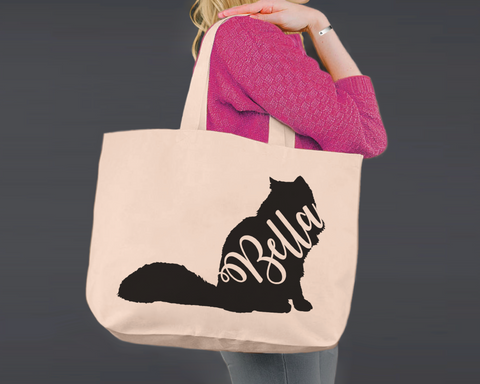 Siberian Cat | Personalized Canvas Tote Bag