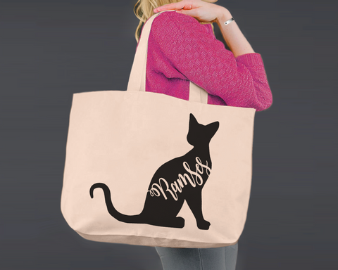 Sphynx Cat | Personalized Canvas Tote Bag