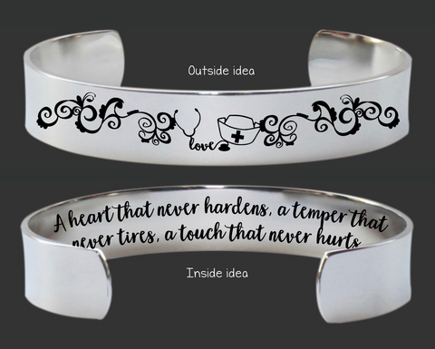 Nurse Gift | A Heart That Never Hardens Bracelet