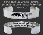 He Will Cover You With His Feathers Bracelet | Psalm 91:4