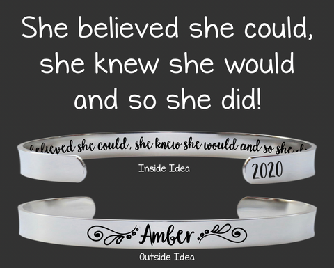 She Believed She Could, So She Did Bracelet