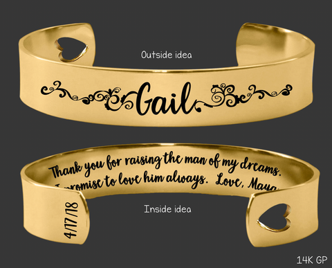Thank You Raising For the Man of My Dreams Gold Bracelet