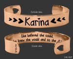 She Believed She Could, So She Did Rose Gold Bracelet