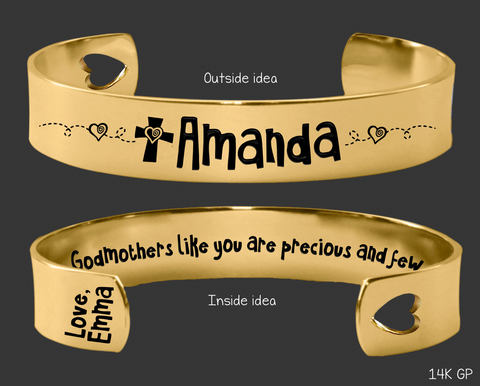 Gold Godmothers Like You Are Precious and Few Bracelet | Godmother Gift