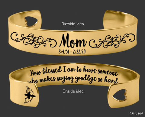 How blessed I am Gold Memory Bracelet