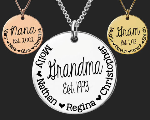 Grandma Personalized Necklace