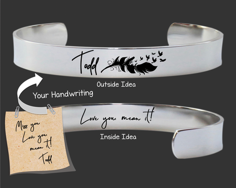 "3/8"" Design Your Own Custom Handwriting Bracelet"