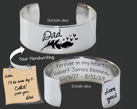 "1"" Design Your Own Custom Handwriting Bracelet"