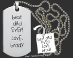 Your Own Handwriting Dog Tag | Handwriting Jewelry