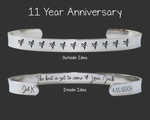 Steel 11th Anniversary Bracelet