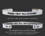 "1/4"" Create Your Own Personalized Bracelet"