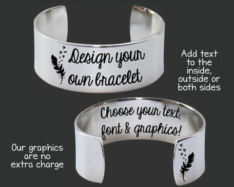 "1"" Design Your Own Personalized Bracelet"