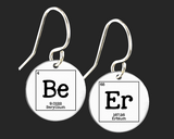 Beer Earrings | Periodic Table of Elements  | Korena Loves