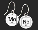 MoNe Earrings | Periodic Table of Elements