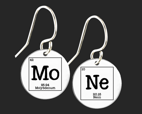 MoNe Earrings | Periodic Table of Elements  | Korena Loves