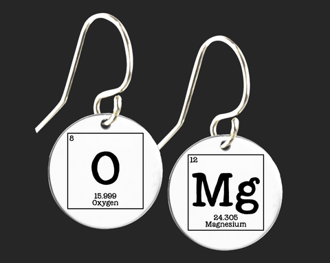 OMG Earrings | Periodic Table of Elements  | Korena Loves