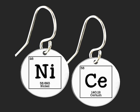Nice Earrings | Periodic Table of Elements  | Korena Loves