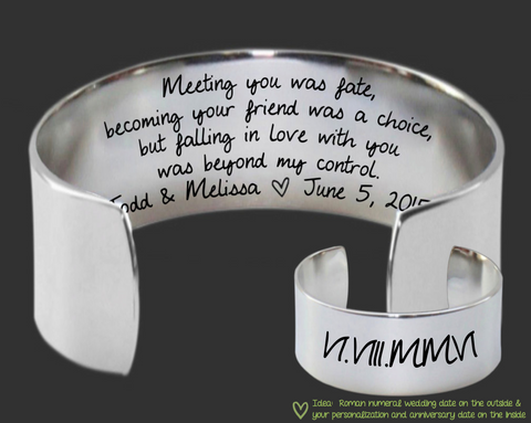 Meeting You Was Fate Bracelet | 11th Anniversary Steel Gift